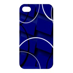 Blue Abstract Pattern Rings Abstract Apple iPhone 4/4S Premium Hardshell Case