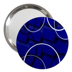 Blue Abstract Pattern Rings Abstract 3  Handbag Mirrors