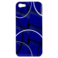 Blue Abstract Pattern Rings Abstract Apple Iphone 5 Hardshell Case