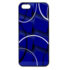 Blue Abstract Pattern Rings Abstract Apple iPhone 5 Seamless Case (Black)