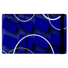 Blue Abstract Pattern Rings Abstract Apple Ipad 2 Flip Case
