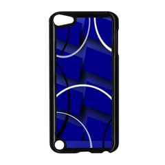 Blue Abstract Pattern Rings Abstract Apple iPod Touch 5 Case (Black)