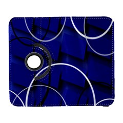 Blue Abstract Pattern Rings Abstract Galaxy S3 (flip/folio)