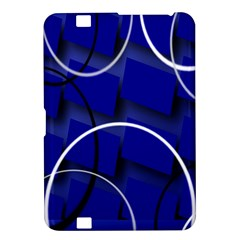 Blue Abstract Pattern Rings Abstract Kindle Fire HD 8.9
