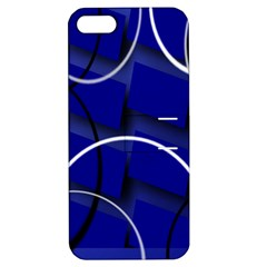 Blue Abstract Pattern Rings Abstract Apple Iphone 5 Hardshell Case With Stand
