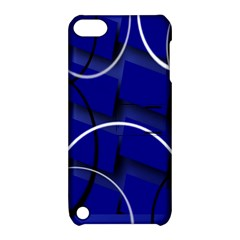 Blue Abstract Pattern Rings Abstract Apple Ipod Touch 5 Hardshell Case With Stand