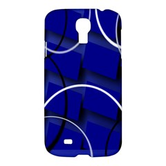 Blue Abstract Pattern Rings Abstract Samsung Galaxy S4 I9500/I9505 Hardshell Case