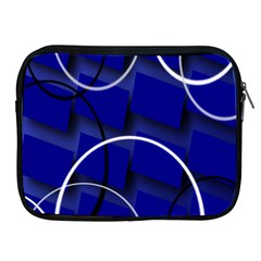 Blue Abstract Pattern Rings Abstract Apple iPad 2/3/4 Zipper Cases