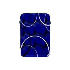 Blue Abstract Pattern Rings Abstract Apple Ipad Mini Protective Soft Cases