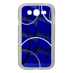 Blue Abstract Pattern Rings Abstract Samsung Galaxy Grand Duos I9082 Case (white)