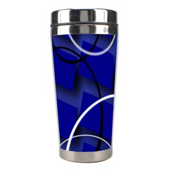 Blue Abstract Pattern Rings Abstract Stainless Steel Travel Tumblers