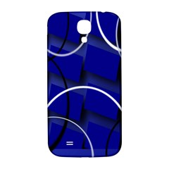 Blue Abstract Pattern Rings Abstract Samsung Galaxy S4 I9500/i9505  Hardshell Back Case