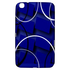 Blue Abstract Pattern Rings Abstract Samsung Galaxy Tab 3 (8 ) T3100 Hardshell Case