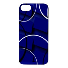 Blue Abstract Pattern Rings Abstract Apple iPhone 5S/ SE Hardshell Case