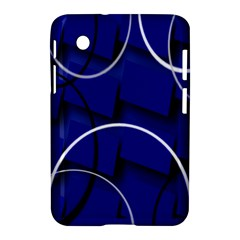 Blue Abstract Pattern Rings Abstract Samsung Galaxy Tab 2 (7 ) P3100 Hardshell Case