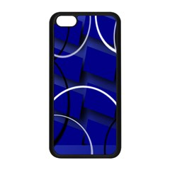 Blue Abstract Pattern Rings Abstract Apple Iphone 5c Seamless Case (black)