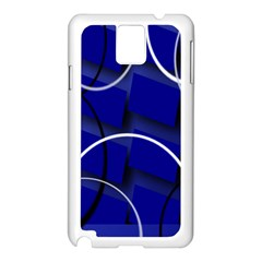 Blue Abstract Pattern Rings Abstract Samsung Galaxy Note 3 N9005 Case (white)