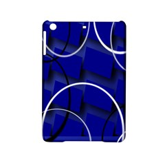 Blue Abstract Pattern Rings Abstract Ipad Mini 2 Hardshell Cases