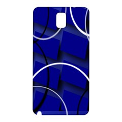 Blue Abstract Pattern Rings Abstract Samsung Galaxy Note 3 N9005 Hardshell Back Case