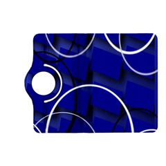 Blue Abstract Pattern Rings Abstract Kindle Fire HD (2013) Flip 360 Case