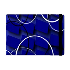 Blue Abstract Pattern Rings Abstract Ipad Mini 2 Flip Cases