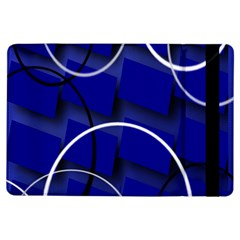 Blue Abstract Pattern Rings Abstract iPad Air Flip