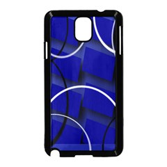 Blue Abstract Pattern Rings Abstract Samsung Galaxy Note 3 Neo Hardshell Case (black)