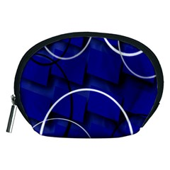 Blue Abstract Pattern Rings Abstract Accessory Pouches (medium)
