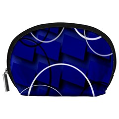 Blue Abstract Pattern Rings Abstract Accessory Pouches (large)