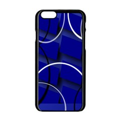 Blue Abstract Pattern Rings Abstract Apple Iphone 6/6s Black Enamel Case