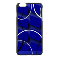 Blue Abstract Pattern Rings Abstract Apple Iphone 6 Plus/6s Plus Black Enamel Case