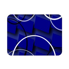 Blue Abstract Pattern Rings Abstract Double Sided Flano Blanket (mini)
