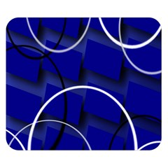 Blue Abstract Pattern Rings Abstract Double Sided Flano Blanket (small)