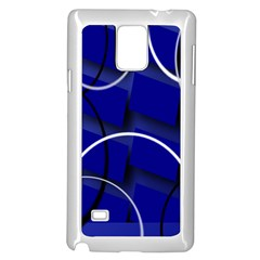 Blue Abstract Pattern Rings Abstract Samsung Galaxy Note 4 Case (white)