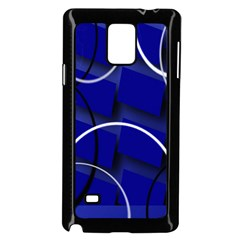 Blue Abstract Pattern Rings Abstract Samsung Galaxy Note 4 Case (black)