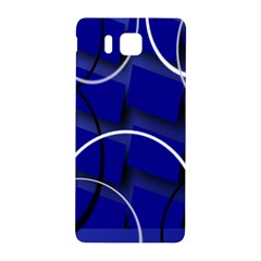 Blue Abstract Pattern Rings Abstract Samsung Galaxy Alpha Hardshell Back Case