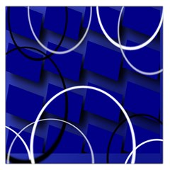 Blue Abstract Pattern Rings Abstract Large Satin Scarf (square)