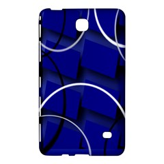 Blue Abstract Pattern Rings Abstract Samsung Galaxy Tab 4 (8 ) Hardshell Case