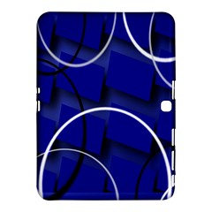 Blue Abstract Pattern Rings Abstract Samsung Galaxy Tab 4 (10.1 ) Hardshell Case