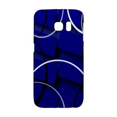 Blue Abstract Pattern Rings Abstract Galaxy S6 Edge