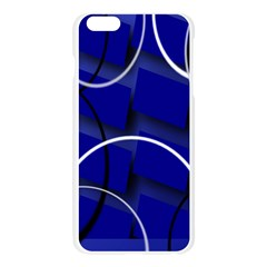 Blue Abstract Pattern Rings Abstract Apple Seamless iPhone 6 Plus/6S Plus Case (Transparent)
