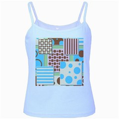 Part Background Image Baby Blue Spaghetti Tank