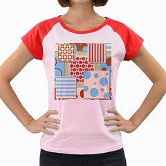Part Background Image Women s Cap Sleeve T Shirt