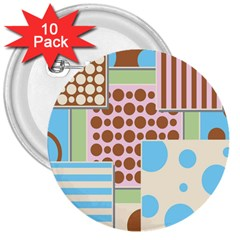 Part Background Image 3  Buttons (10 Pack)
