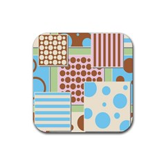 Part Background Image Rubber Square Coaster (4 pack)