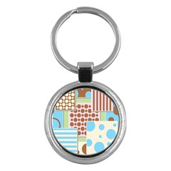 Part Background Image Key Chains (round)