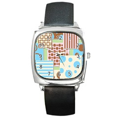 Part Background Image Square Metal Watch
