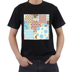 Part Background Image Men s T Shirt (black) (two Sided)