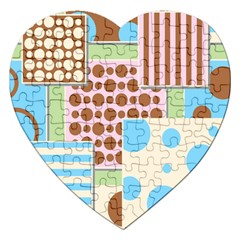 Part Background Image Jigsaw Puzzle (Heart)