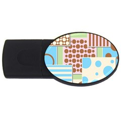 Part Background Image Usb Flash Drive Oval (4 Gb)